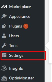 dashboard de wordpress settings configuracion