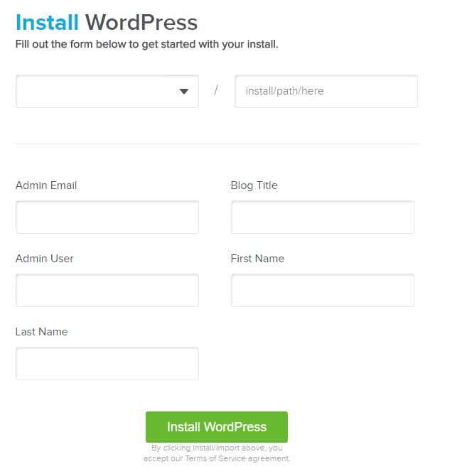 hosting con wordpress configurar instalacion