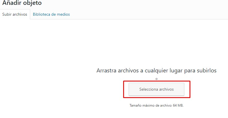 subir archivos a un post pagina de wordpress pagina web