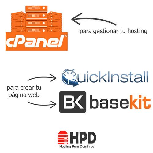 Panel de Control y Creador de Sitios web gratuito