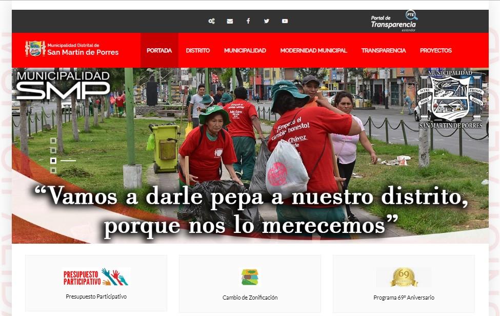 creacion de pagina web para municipio