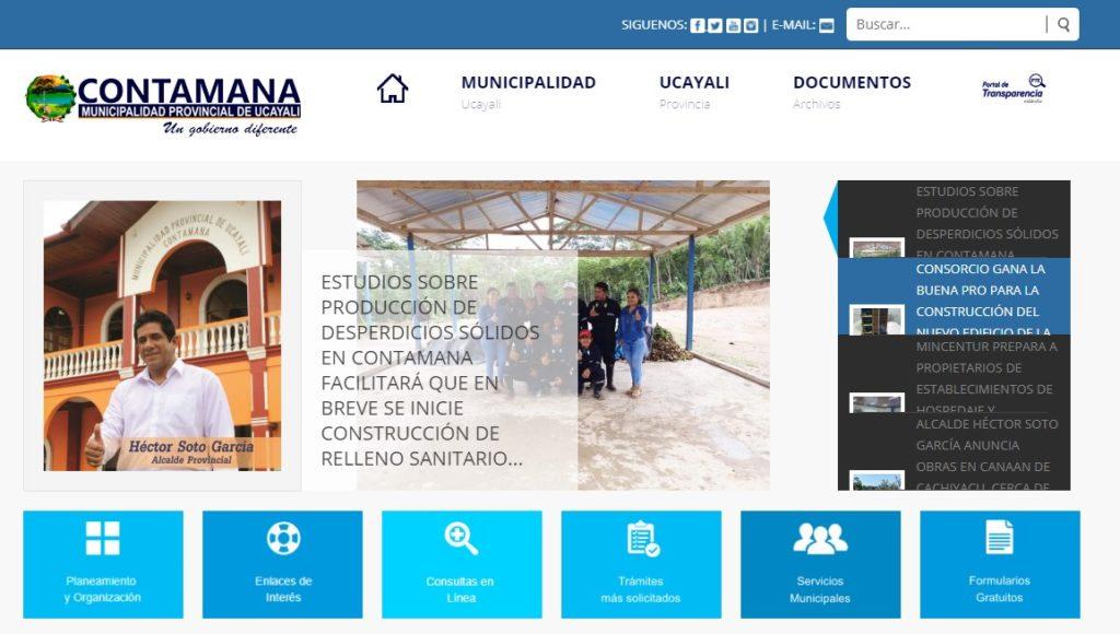 desarrollo de pagina web para una municipalidad
