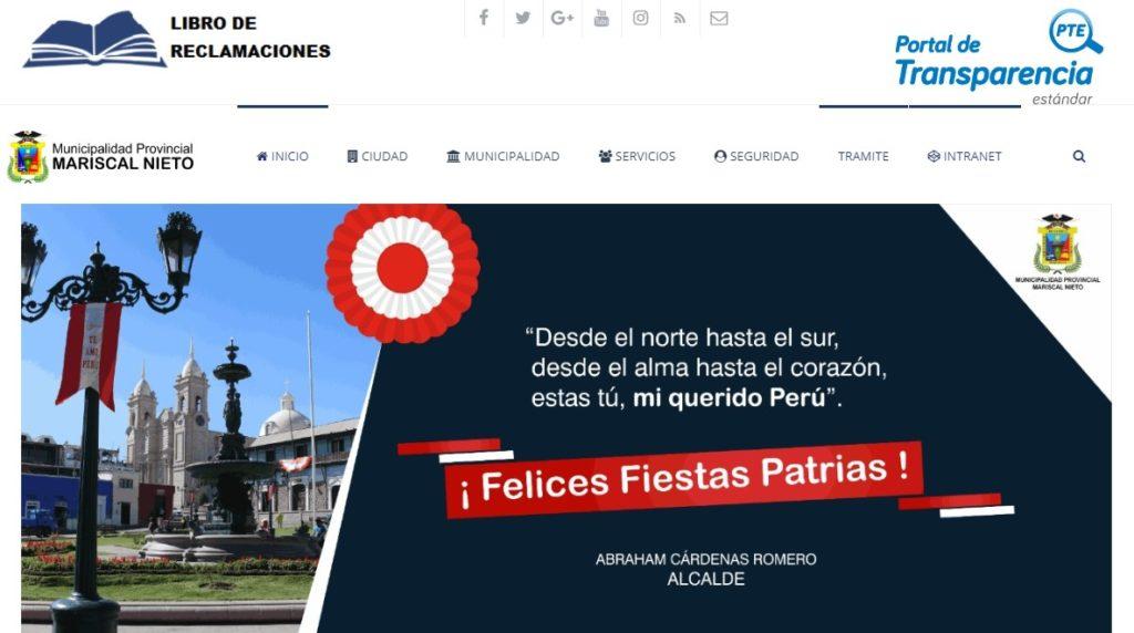 web en joomla o wordpress para municipalidad
