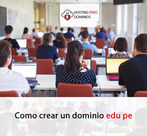 Como crear un dominio edu pe